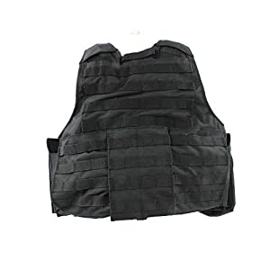 Tactical Combat Patrol M.Release Army Assault MOLLE Vest Carrier Police Black by Mil-Tec