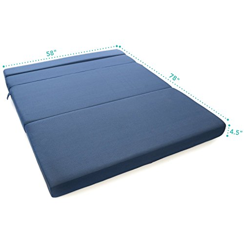 foam folding mattress sofa bed floor mat couch living room furniture queen size ebay. Black Bedroom Furniture Sets. Home Design Ideas