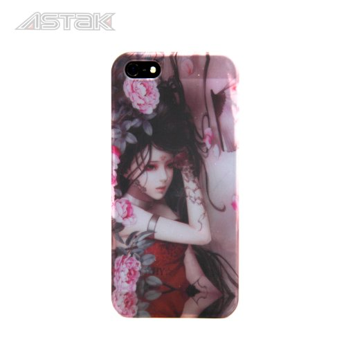 Stunning Inked Girl Series Tattoo Art Design, Variety Of Sexy Cases With Devil Tattooed Girls With Snakes, Dragons, Flowers, And Butterfly'S Protective Snap-On Hard Plastic Back Case Cover For Iphone5/ 5S (Tattoo Girl With Pink Flowers)
