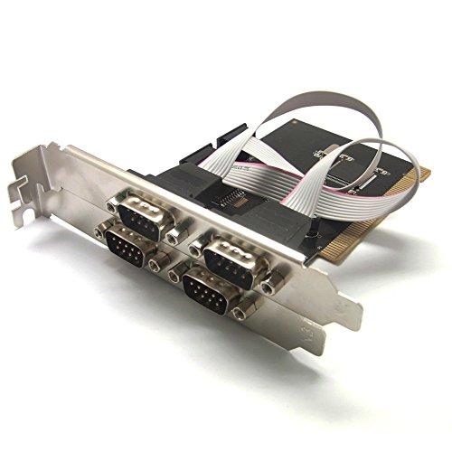 Sienoc 4 porte pci rs232 db9 scheda adattatore porta - Computer con porta seriale ...