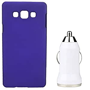 Toppings Hard Case Cover With Car Charger For Samsung Galaxy J5 - Purple