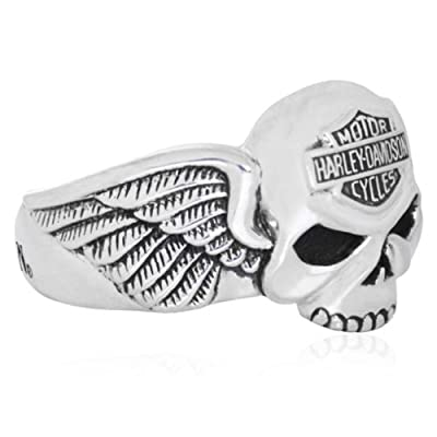 Harley-Davidson® MOD® Skull Side Profile Ring HDR0292 from MOD® Jewelry