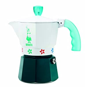 "Bialetti: Moka Express ""Artisti"" Limited Edition 3-Cup Green [ Italian Import ] by Bialetti"