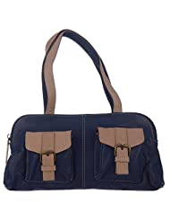 Leatherman Blue Colored Leather Hand Bag For Women