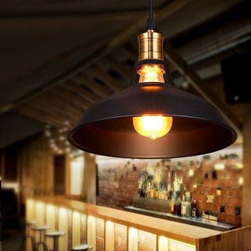 Loft Vintage Industrial Iron Pendant Light Restaurant Balcony Edison Hanging Ceiling Lamp Fixture