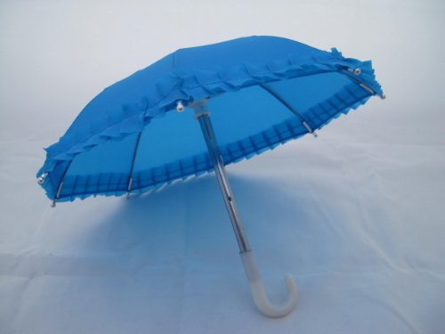 "Unique Doll Clothing Blue Doll Umbrella for 18"" Dolls Including the American Girl Line - 1"