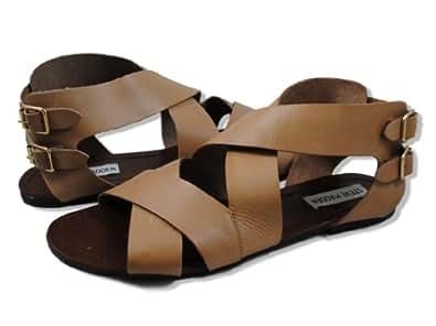 Steve Madden Women's Achilees Sandal,Blush Leather,11 M US
