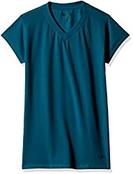 Lovable Women's Cotton Pyjama Top (V-NeckTee_Green_X-Large)