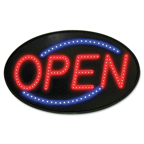 Newon 5583 Led Open Sign With Flashing Effects, 5-Inch Font, Red/Blue/Black (5583)
