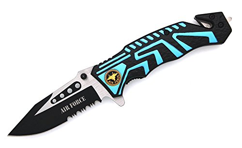 Snake Eye Tactical Air Force Rescue Style Action Assist Folding Knife 4.5""
