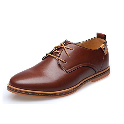 Fengda mens Casual Ventilated Commercial Shoes EU40 Brown