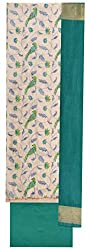 SG Women's Cotton Unstitched Dress Material (Green)