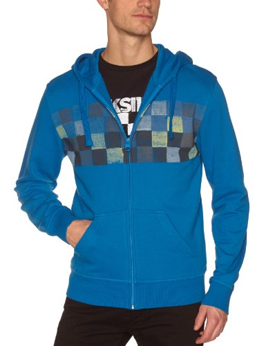 Quiksilver Hood Zip Men's Sweatshirt Pacific X-Large
