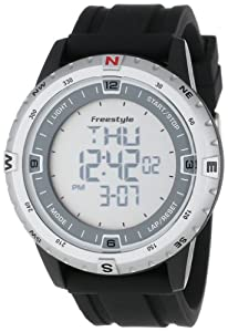 Freestyle Unisex 101217 Touch Compass Digital Compass Outdoor Silver Black Watch