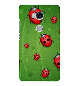 Beetle Line 3D Hard Polycarbonate Designer Back Case Cover for Huawei Honor 5X :: Huawei Honor X5 :: Huawei Honor GR5