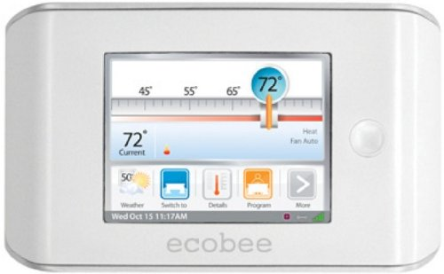 ecobee Smart Thermostat 4 Heat-2 Cool with Full Color Touch Screen - 1