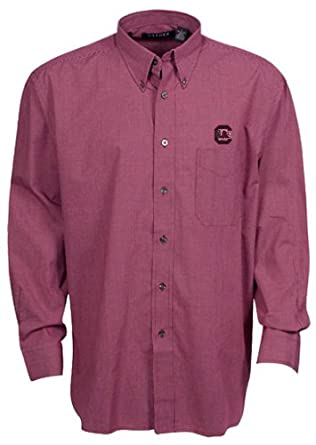 Oxford NCAA South Carolina Fighting Gamecocks Mens Mini-Check Button Down by Oxford