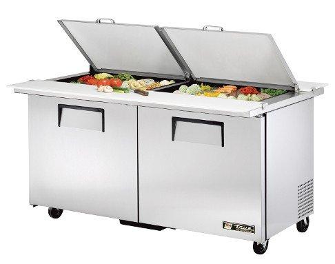 True TSSU-60-24M-B-DS-ST Solid Door Dual Sided Sandwich/Salad Unit (True Refrigerator Residential compare prices)