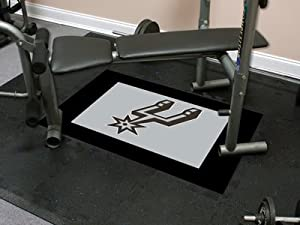 "San Antonio Spurs 18""x18"" tiles Nba Fitness Tiles NBA Modular Flooring Exercise Fitness Tiles"