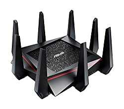 ASUS RT-AC5300 Wireless AC5300 Tri-Band Gigabit Router, AiProtection with Trend Micro for Complete Network Security