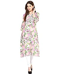 LOVE FROM INDIA Pink Cotton Printed Kurti
