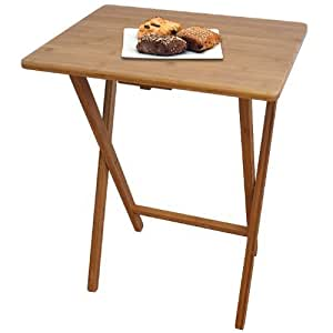 Table pliante en bambou 60 x 47 x 37 cm petite table de jardin jardin - Petite table de jardin pliante ...