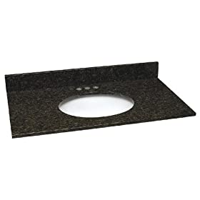 "Design House 552521 25"" Uba Tuba Granite Single Bowl Vanity Top"