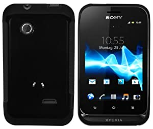 Mumbi - Carcasa de silicona y TPU para Sony Xperia TIPO, color negro