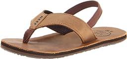 Reef Grom Leather Smoothy Sandal (Toddler/Little Kid/Big Kid),Bronze Brown,Small/Medium (5/6 M US Toddler)