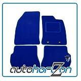 PEUGEOT 307 CC (2003-2008) 4 FIXING HOLES BLUE FULLY TAILOBLUE CAR FLOOR MAT SET