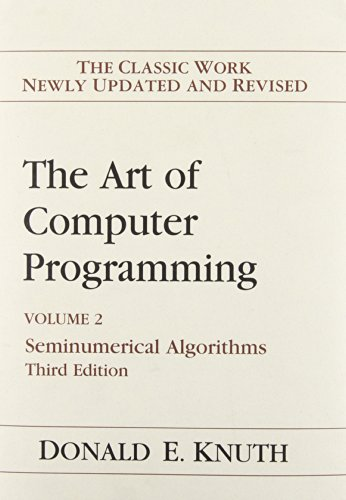 Art of Computer Programming, Volume 2: Seminumerical...