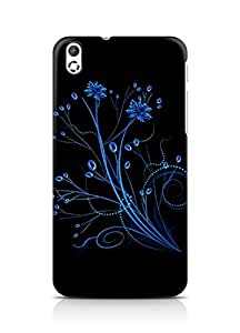 Amez designer printed 3d premium high quality back case cover for HTC Desire 816 (Abstract Dark 2)