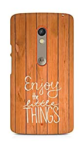 AMEZ enjoy the little things Back Cover For Motorola Moto X Play