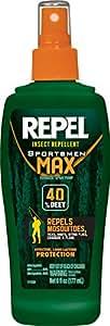Repel 94101 6-Ounce Sportsmen Max Insect Repellent 40-Percent DEET Pump Spray, Case Pack of 1