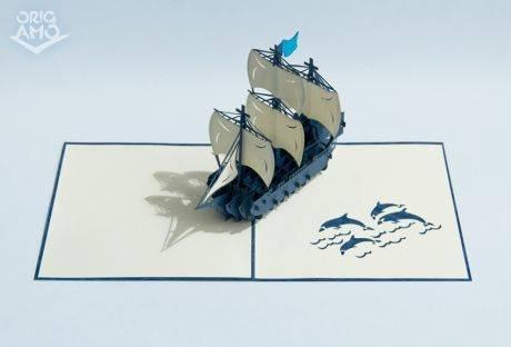 carte-de-voeux-galion-cod-6671-origami