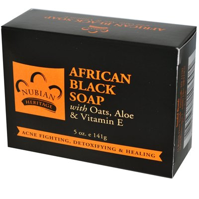 Bar Soap African Black w/ Oats, 5 oz, From Nubian Heritage