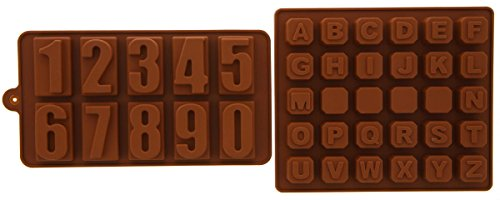 Juvale Silicone Chocolate Hard Candy Mold Set Heat Resistant - 2 Piece Set
