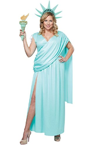 8eighteen Lady Statue of Liberty Plus Size Costume