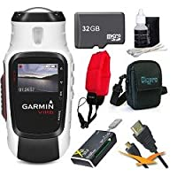 Garmin VIRB Elite Action Camera 010-01088-10 Ultimate Bundle with 32GB Micro SD Card, HDMI Cable, Floating Strap, All in One Card Reader, Carrying Case, and Lens Cleaning Kit from Garmin