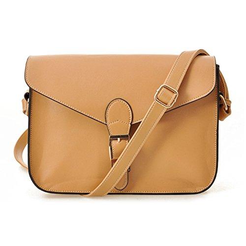 I9Q Vintage Donna PU Cuoio Satchel Crossbody Borsa Spalla Bag