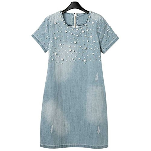 Women's Plus-size Fashion Denim Dress