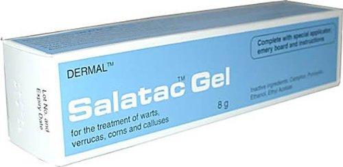 DERMAL SALATAC GEL SALICYLIC ACID 12.0% W/W, LACTIC ACID 4.0% W/W FOR THE TREATMENT OF WARTS, VERRUCAS, CORNS AND CALLUSES - 8G