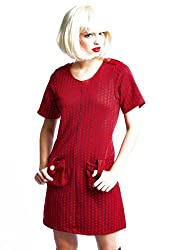 Robe Giant Dog Tooth Red/Navy from Ruby Rocks