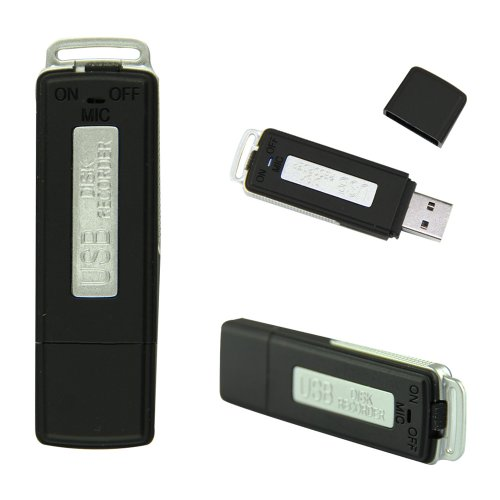 Voberry New Design 8Gb Usb Flash Drive Digital Audio Voice Recorder 150 Hours (Black)