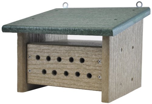 Backyard Boys Woodworking GS82GRWW Bee Box, Green/Weatherwood (Honey Bee House compare prices)