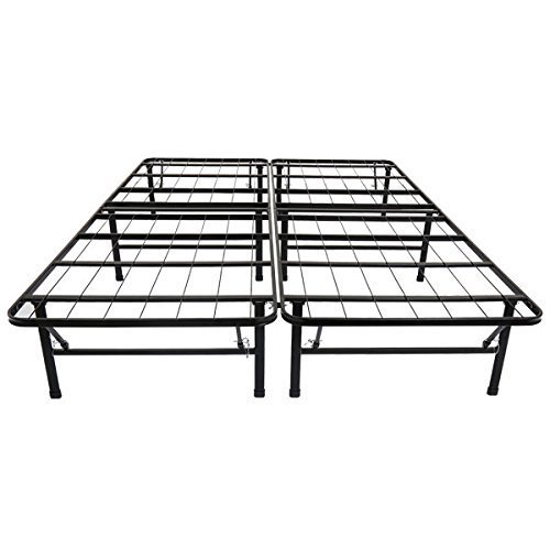 Great Deal! Olee Sleep Metal Platform Foundation Bed Frame, Queen 14BF01Q