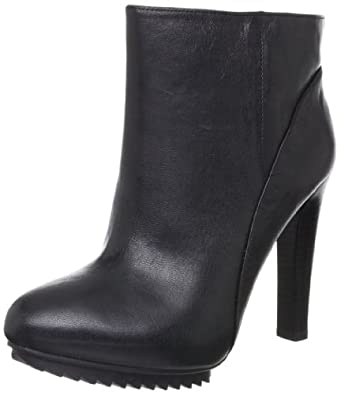 Nine West Women's Cashy Ankle Boot,Black Leather,9.5 M US