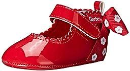 Gerber Polka Dot Back-Bow Mary Jane (Infant), Red, 3 M US Infant
