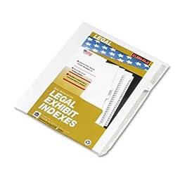 90000 Series Legal Exhibit Index Dividers, Side Tab, Printed \