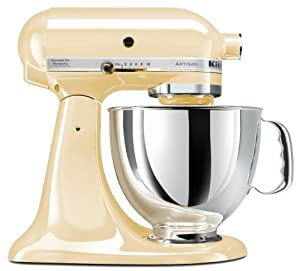 KitchenAid KSM150PSAC Artisan Series 5-Quart Mixer, Almond Cream